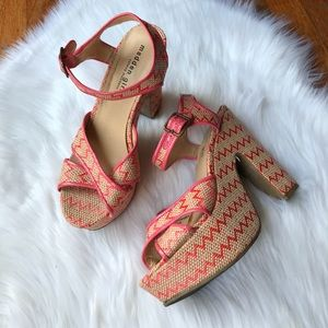 Madden Girl Brennerr Woven Platform Strappy Heels